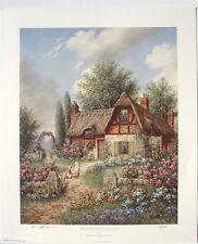 "1991 DENNIS LEWAN ""Wenthworth Cottage"" Hand Signed Lithograph Print 10X12 8/8"