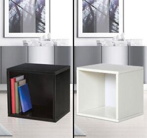 Design Carton Cube Noir Blanc la Vie Chambre Suspendu Étagère Mur ...
