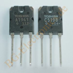 Details about 2 x 2SA1941 & 2SC5198 4 complementary transistors 100W 10A  140V Tosh TO-3P 4pcs