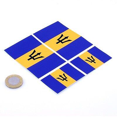 2 Barbados Flag Decals Stickers