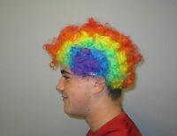 1 Kids Rainbow Circus Clown Wig Carnival Halloween Costume Party Favor