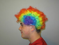 1 Kids Rainbow Circus Clown Wig Carnival Halloween Costume Party Favor