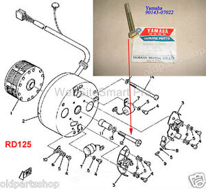 Astonishing Yamaha Ls2 Yas3 Rd125 Rd400 Generator Screw Nos As3 Magneto Bolt Wiring 101 Ferenstreekradiomeanderfmnl