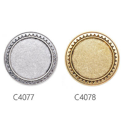 Sale Round Shallow Bezel Brooch Pin Blank Bases Safety Brooch 10Pcs 30MM
