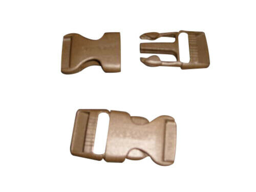 """Buckle 1/"""" Side release buckle,nylon buckle Khaki color best quality Made in USA."""