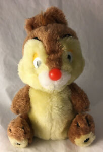 Vintage-Dale-Walt-Disney-Productions-Plush-Stuffed-Animal-9-034-Chip-amp-Dale