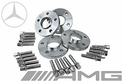 4 Mercedes Benz 5x112 Staggered 15 MM & 20 MM Hub Centric Spacers W/ Lug Bolts
