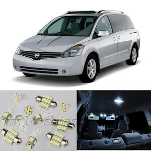 17 215 White Interior Led Light Package Kit For Nissan Quest