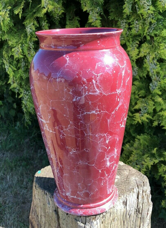 Un BELLISSIMO VASO ALTO Rosso rosa in Effetto Marmo Marmo Marmo  82bb83
