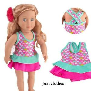 Clothes-Swimwear-Swimsuit-for-18inch-Girl-Our-Generation-Dolls-Summer-New-O2W1