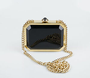 12d71a139 Image is loading New-CHANEL-Gold-Black-Chanel-Premiere-Watch-Minaudiere-