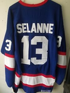 the best attitude 22fd7 bd30e Details about NWT Teemu Selanne Winnipeg Jets Throwback Home Jersey CCM  Size 3XL (56)