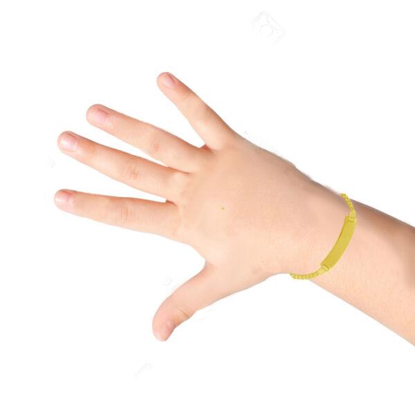 100% QualitäT 10k Gelbgold Panzerkette Baby Id Armband 15.2cm Gravierbar Verkaufsrabatt 50-70%