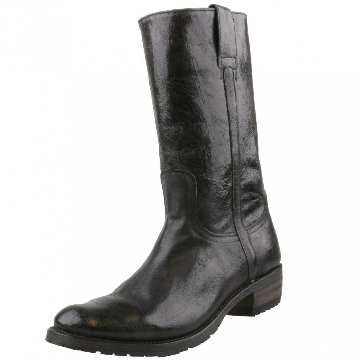 Nuevo cuero Sendra caballeros botas botas motorista-botas 3165 negro