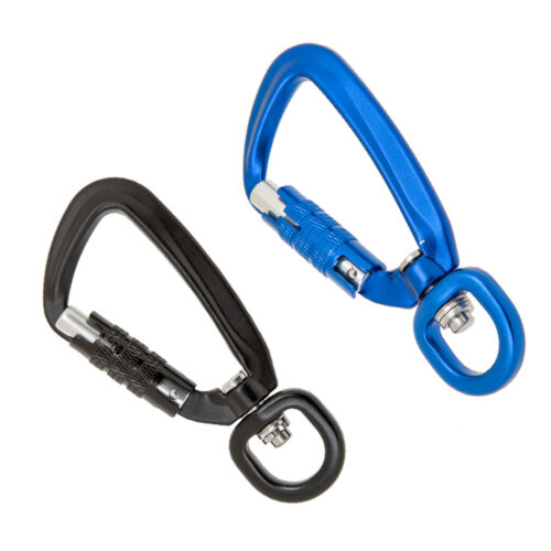 2pcs 500KG Auto Locking Carabiner Rotating Ring Outdoor Keychain Hook