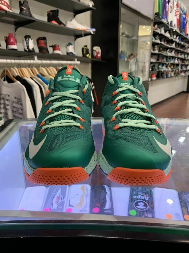Nike Air Max Lebron XI 11 Low Mystic Green shoes 642849-313 Size 10