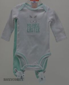 824ad2490 Easter Carter s White Green with My First Easter Bodysuit   Pants ...