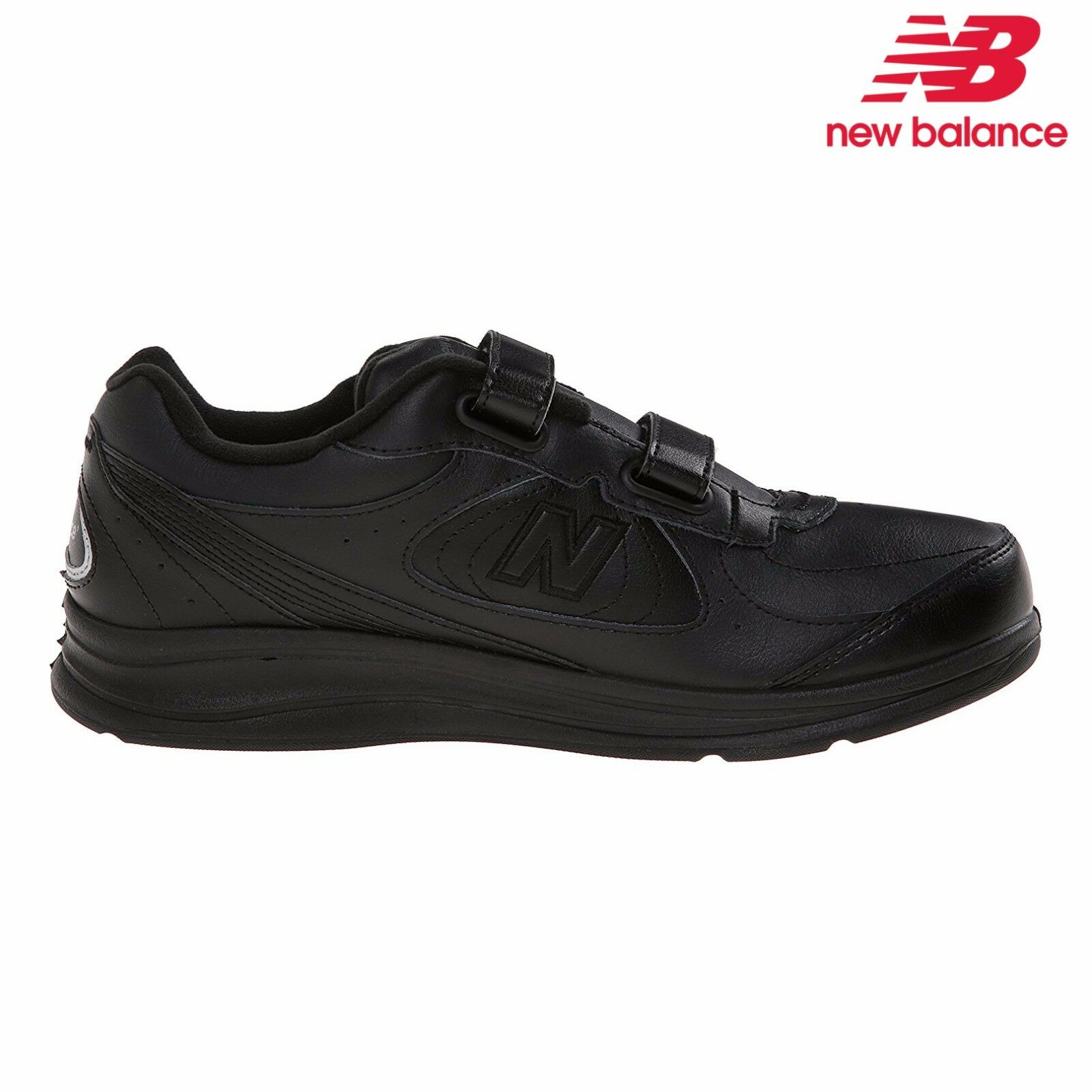 Men's New Balance MW577 Comfy Walking shoes Hook BLK Leather All SZ NIB XMW577VK