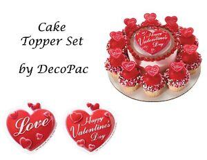 Happy Valentine S Day Cake Topper Sets Decopac Picks Pop Tops