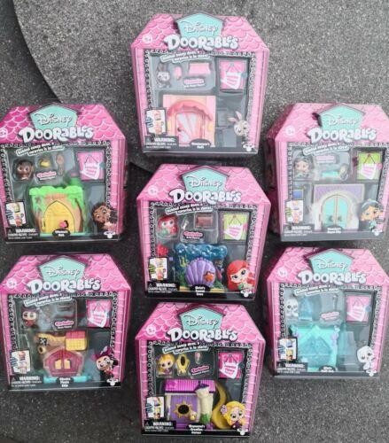 Nouveau Disney Doorables Playsets Jasmine Moana Olaf Ariel Rapunzel Judy Hopps Hook