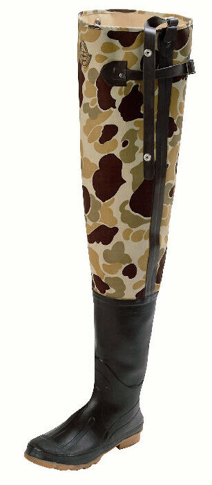 Proline 711-13 Camo 3 Ply Canvas Insulated Hip Boot Size 13 15989