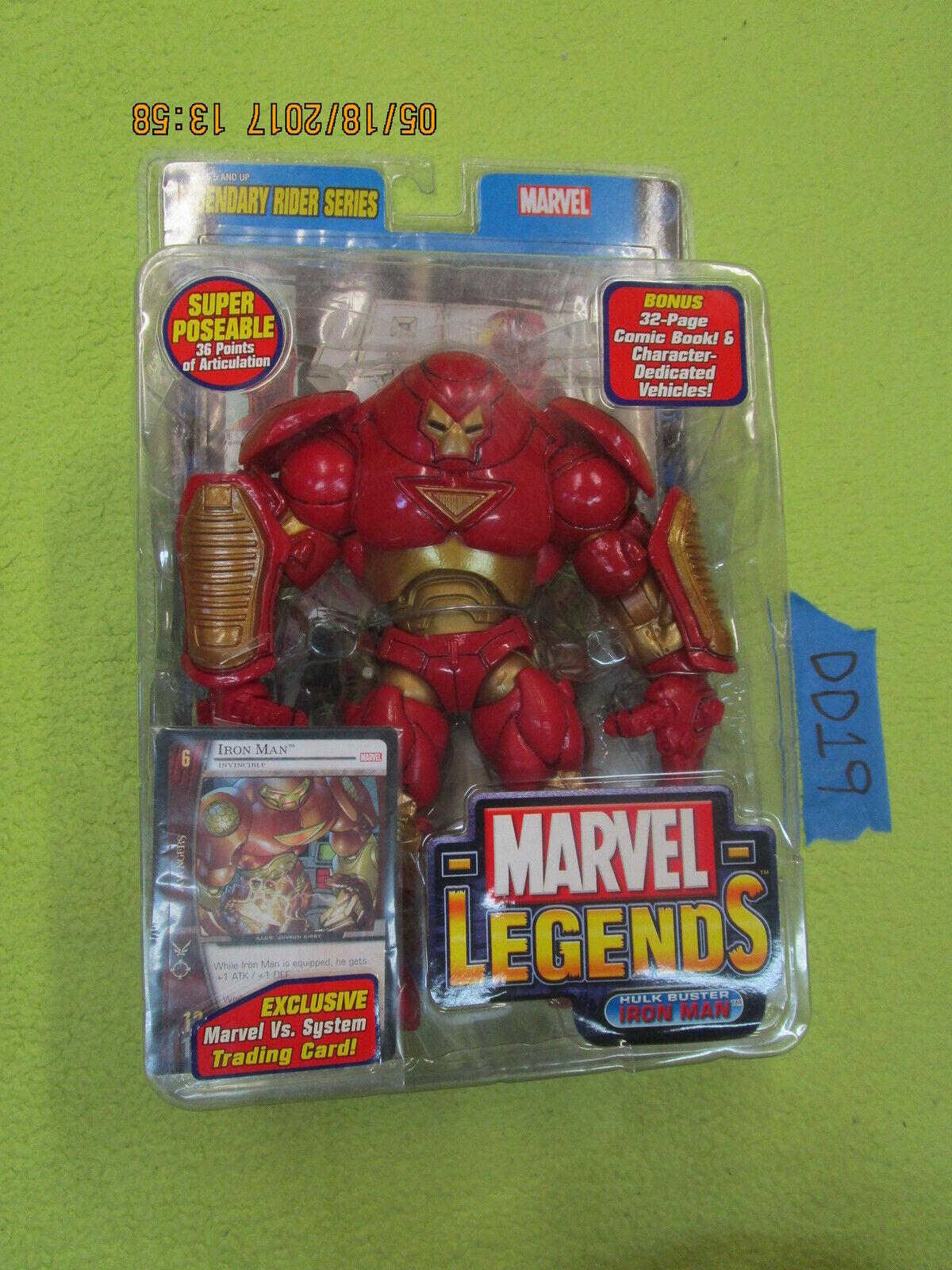 DD19 Toy Biz Marvel Legend Lot HULKBUSTER IRON MAN Legendary Rider Series VS TCG