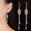 Womens-Leaf-Butterfly-925-Sterling-Silver-Plated-Earrings-Hook-Drop-Dangle-Chain thumbnail 1