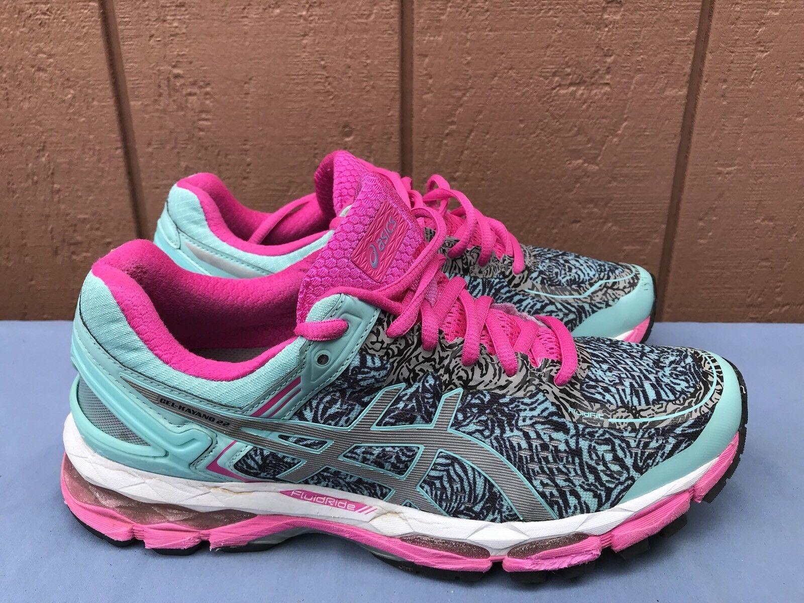 Usado en excelente estado Asics Asics Asics Gel-Kayano 22 T5A6N Lite-Show Mujer Zapatos Aqua Splash Plata rosado A7  entrega rápida