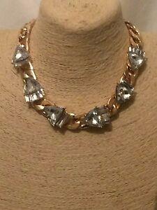 Womens Statement Big Large Gold Chain Bib Collar Necklace Unique Unusual Wedding