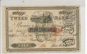 RC0288-Great-Britain-1840-5-Pound-BERWICK-TWEED-BANK-combine-shipping