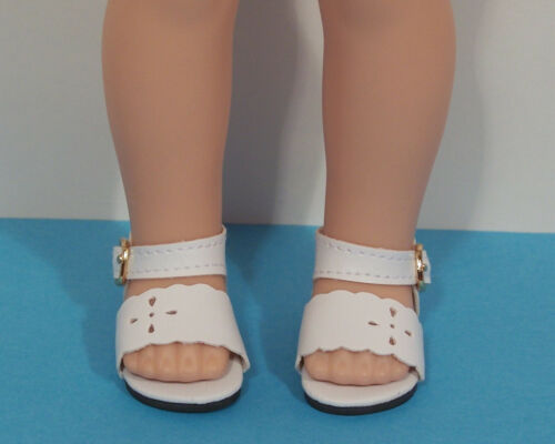 Debs WHITE Summer Sandals Doll Shoes For 14 American Girl Wellie Wisher Wishers