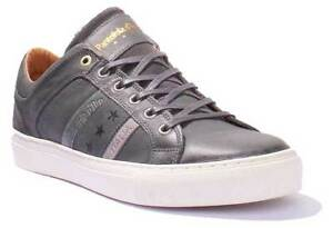 buy popular 52171 e7cca Details about Pantofola D Oro Monza Uomo Mens Grey Leather Matt Trainers UK  Size 6 - 12