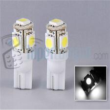 1 BOMBILLA LED COCHE T-10 W5W 5 SMD 12V  LUZ BLANCA WHITE TIPO XENON 6000K T10