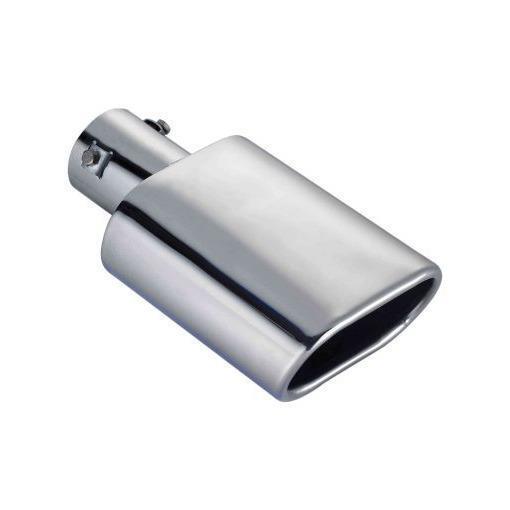 Beminnelijk (704) Oval High Chrome Steel Exhaust Tailpipe Tip Trim Fits Mitsubishi Asx