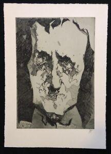 Horst-Janssen-Edgar-Allan-Poe-1-Fassung-Radierung-1983-handsigniert