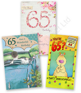 Image Is Loading Happy 65th Birthday Greeting Card Age 65 Today