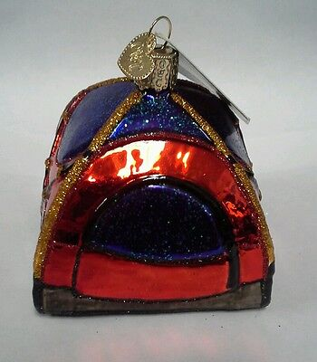 Dome Tent Glass Blown Ornaments for Christmas Tree Old World Christmas Ornaments