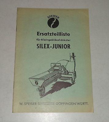 Other Tractor Publications Honest Parts Catalog/spare Parts List Speiser Kleingebläsehäcksler Silex-junior Evident Effect Tractor Manuals & Publications