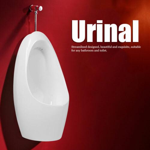Urinal Wandurinal Absaugeurinal Set mit Druckspüler Pissoir Zulauf Weiß Becken