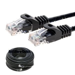 CAT5E CAT5 RJ45 ETHERNET LAN NETWORK CABLE BLACK PS3 XBOX 50FT 75FT 100FT 200FT