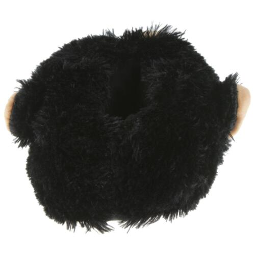 Grizzly Ours Animal Chaussons Pantoufle Chaussons Peluche Unisexe Noir 36-48