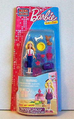 "Mega Bloks BARBIE Pack 80202 PUPPY PALS BARBIE 23 Pieces Including 1 x 2/"" Doll"