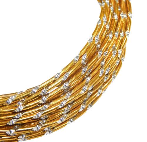 Aludraht 2mm oro diamante efecto 5 m cable perlas joyas Alambre Aluminio c106