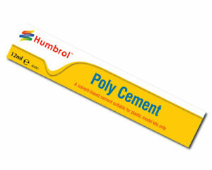 HUMBROL-Poly-Cement-Medium-12ml-Tube-Adhesive-Glue