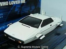 MINICHAMPS JAMES BOND SPY WHO LOVED ME LOTUS ESPRIT 1:43 SUBMARINE WHITE CAR T3Z