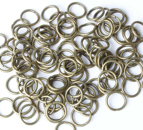 Gold Platinum /& Silver plated Metal JUMP RINGS 5,6,7,8,9,10mm Vintage Bronze