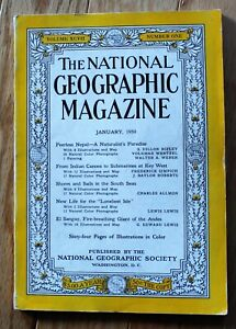National Geographic January 1950 Nepal; South Seas; El Sangay; Tristan; Key West