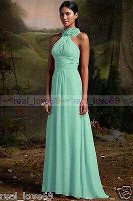 New Chiffon Long Wedding  Formal Party Ball Gown Prom Bridesmaid Dress Size6-18