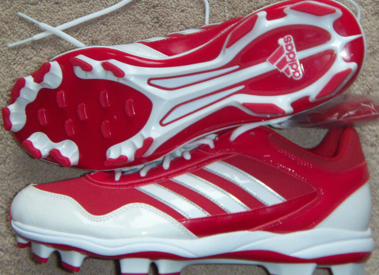 New Mens adidas Excelsior Pro TPU Low Baseball Cleats Size 12.5 Red/White