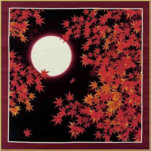 FUROSHIKI JAPANESE Traditional Wrapping Cloth Cotton Fabric 50cm Autumn Leaves